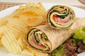 Turkey Wraps With Chips