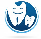 dental clinic vector icon - smile teeth