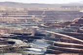 pic of open-pit mine  - active open pit desert strip mine mining for borax - JPG