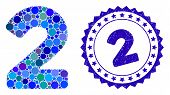 Mosaic 2 Digit Icon And Rubber Stamp Watermark With 2 Caption. Mosaic Vector Is Designed With 2 Digi poster