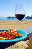 Red Wine And Bruschetta