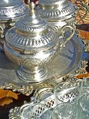 Silver Plated Moroccan Tea Set