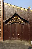 Traditional Malay Palace Entrance Door