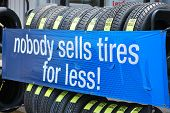 Sales Banner for New Tires