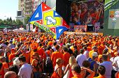 Holland Football Team Supporters Walk On A Street Of Kharkiv City Before Uefa Euro 2012 Game Against