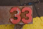 Number Thirty-three On Industrial Equipment