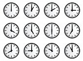World Time Zone, Wall Clock Vector