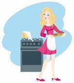 Milch brannte für einen unerfahrenen jungen hostess