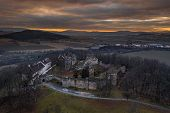 Klenova Castle Is A Large Castle Located In Southwest Bohemia Near The Town Of Klatovy. Only Ruins R poster
