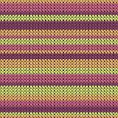 Woolen Horizontal Stripes Christmas Knit Geometric Vector Seamless. Scarf Hosiery Textile Print. Tra poster