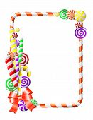 Frame with colorful candies.