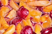 Cooking Jam From Apricots And Plums
