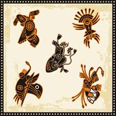 Vector set of African tribal ornaments.