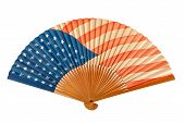 Antique American Flag Folding Fan