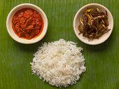 foto of nasi  - close up nasi lemak coconut flavoured rice - JPG