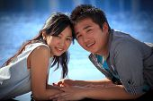 face of couples asian people