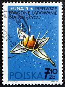 Postage stamp Poland 1966 Luna 9, USSR Spacecraft