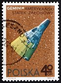 Postage stamp Poland 1966 Gemini, American Spacecraft
