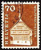 Postage stamp Switzerland 1967 Lussy House, Wolfenschiessen, Swi
