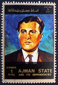 Postage stamp Ajman 1973 Wernher von Braun, Rocket Scientist