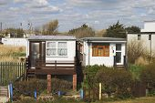 Homes By Beach At Bognor Regis. UK