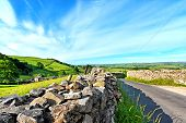 foto of suny  - Yorskshire Dales on a beautiful suny day - JPG
