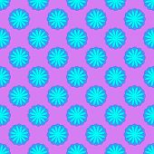Abstract Cyan Floral Seamless Pattern On The Magenta Background poster