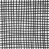 Hand Drawn Grid Texture. Thick Black Lines On White Background. Sketch Texture For Graphic Design poster