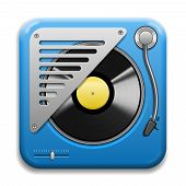 Turntable Vector Icon