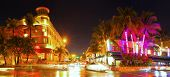 Miami Beach Florida colorful night summer scene