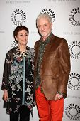 LOS ANGELES - APR 12:  Jane Elliot, Tony Geary arrives at the General Hospital Celebrates 50 Years -