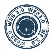 Web 3.0 stamp isolated on a white background.