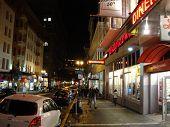San Francisco Powell Street Sidewalk At Night