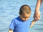 Child In Blue Shirt