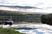 Loch Ness Mit Einfamilienhaus Boot