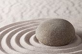 Zen meditation garden lines and patterns with sand and stones Japanese purity relaxation harmony spi