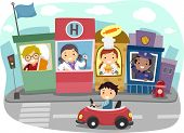 stock photo of kiddie  - Illustration of a Kiddie Community - JPG