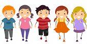 Illustration of Kids Walking in Front