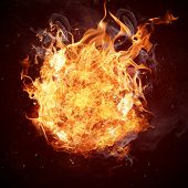 stock photo of hell  - Hot fires flame in motion - JPG