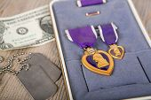 A Purple Heart Military Medal