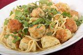 pesto chicken ball and pasta