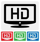 High-Definition-TV-Symbol. HDTV-Symbol