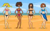 Hermosas mujeres en Bikini o traje de baño