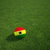 3D-Rendering ein ghanaischer Soccerball lying on grass