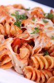 rotinis pasta closeup
