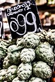 stock photo of sabbatical  - Fresh green Cherimoyas in Central Market Barcelona Spain - JPG
