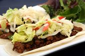 beef taco with lettuce