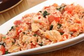chicken tomato risotto