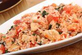 chicken tomato risotto
