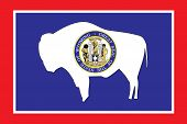 Flag of the American State of Wyoming